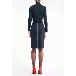 Catherine Malandrino Navy Back Zip Pencil Skirt